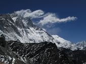 Cloud Swirl Over Lhotse