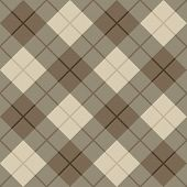 image of tartan plaid  - Seamless vector diagonal plaid pattern in browns and beige - JPG