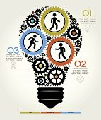 foto of lightbulb  - Modern Business Concept  - JPG