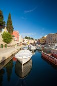 VELI LOSINJ, CROATIA - JUN 10, 2013: Boats in a small marina on June 10, 2013 in Veli Losinj, Croati