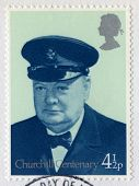 British Postage Stamp Commemorating The Centenary Of Churchill's Birth
