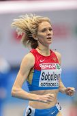 GOTHENBURG, SWEDEN - MARCH 1 Yelena Soboleva (RUS) places 3rd in the qualification of the women's 15