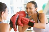 picture of boxing day  - Women Boxing Together At Gym - JPG