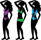 picture of monokini  - Swimsuit Silhouettes 2 - JPG