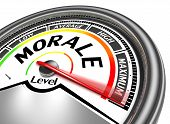 stock photo of moral  - morale conceptual meter indicate maximum isolated on white background - JPG