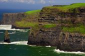 stock photo of family vacations  - photo famous cliffs of moher on west coast of ireland - JPG