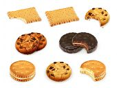 picture of cookie  - Cookies vector set - JPG