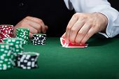 pic of poker hand  - Close - JPG