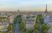 pic of charles de gaulle  - Eiffel Tower and Les Invalides as seen from the Arc de Triomphe - JPG