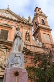 pic of tomas  - Valencia Santo Tomas church in plaza san Vicente Ferrer with fountain at Spain - JPG