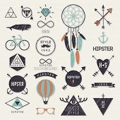 stock photo of dream-catcher  - Hipster style elements and labels - JPG