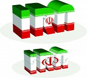 picture of iranian  - Iranian Flag in puzzle isolated on white background - JPG