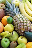 stock photo of dragon fruit  - mix of many fresh tropical fruits  - JPG
