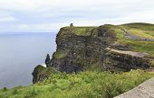 pic of cliffs moher  - Cliffs of Moher and Atlantic Ocean - JPG