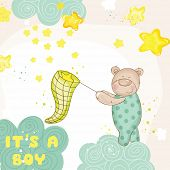 picture of baby bear  - Baby Shower or Arrival Card  - JPG