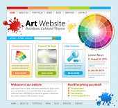 Kunst kreative Paint Website Vorlage design