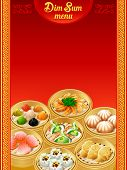 picture of chinese menu  - Template for chinese Dim Sum dumplings menu - JPG