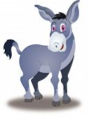 stock photo of jack-ass  - Donkey Violet with Pink Eyes vector illustration - JPG