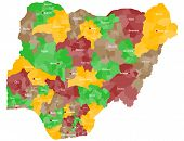 pic of nigeria  - A large and detailed map of Nigeria with all local government areas and cities - JPG