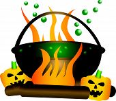 foto of witches cauldron  - Halloween theme - JPG