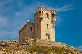 image of tarifa  - Old fort in Tarifa Spain  - JPG