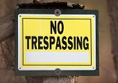 picture of no entry  - No trespassing sign for private property with space for text - JPG