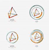 foto of pyramid shape  - Pyramid shape line design - JPG