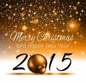 pic of generic  - 2015 New Year and Happy Christmas background for your flyers - JPG