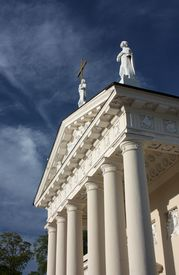 picture of stanislaus church  - Fragment of the St. Stanislaus Cathedral in Vilnius, Lithuania ** Note: Soft Focus at 100%, best at smaller sizes - JPG