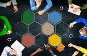 image of bee-hive  - Connection Corporate Networking Bee Hive Concept - JPG