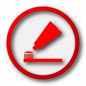 picture of bristle brush  - Tooth paste and brush icon - JPG