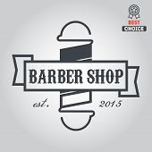 Logo, icon or logotype for barbershop poster