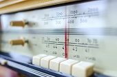 picture of musical scale  - fragment scale of the old Soviet radio  - JPG