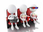 image of popcorn  - 3d illustration - JPG