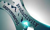 stock photo of productivity  - Productivity Improvement on the Mechanism of Metal Gears - JPG