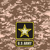 foto of army  - Beige Army camouflage background for use in the field - JPG