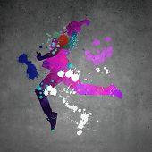 Постер, плакат: Abstract dancer
