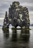 picture of petrified  - A rock in Iceland said to be a petrified troll