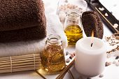 foto of massage oil  - SPA still life - JPG