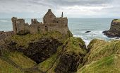picture of ireland  - The Dunluce castle ruins in Northern Ireland - JPG