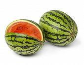 image of melon  - water melon isolated on a white background - JPG