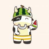 foto of sea cow  - Animal Cow Summer Cartoon Theme Elements - JPG