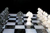 stock photo of knights  - White Knight vs - JPG