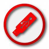 stock photo of usb flash drive  - Usb flash drive icon - JPG
