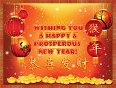 Постер, плакат: Chinese New Year greeting card