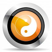 image of ying yang  - ying yang orange icon   - JPG