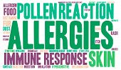 foto of allergy  - Allergies word cloud on a white background - JPG