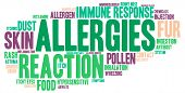 stock photo of allergy  - Allergies word cloud on a white background - JPG