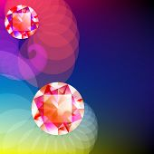 pic of gem  - Gem on abstract background with place for text - JPG