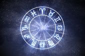 Astrology And Horoscopes Concept. Astrological Zodiac Signs In C poster